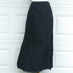 J.Jill Black Silk Maxi Skirt